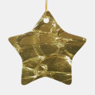 gold bar golden lights chic festive gold ceramic star ornament
