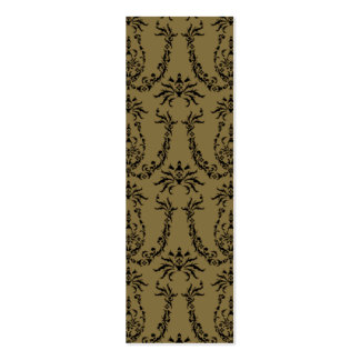 Gold Baroque Pattern Bookmark Mini Business Card