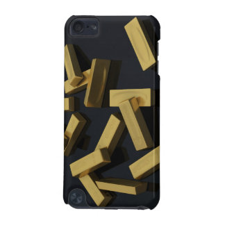 Gold bars in bulk on a black background iPod touch (5th generation) cover