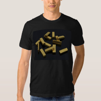 Gold bars in bulk on a black background tshirt