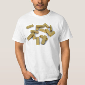Gold bars in bulk on a white background T-Shirt