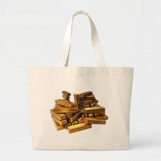 Gold Bars Large Tote Bag