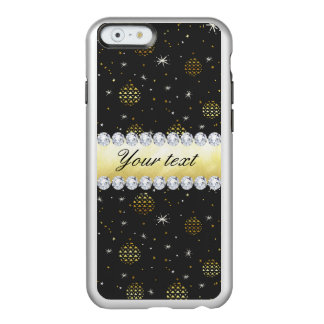 Gold Baubles Stars and Diamonds Bling Black Incipio Feather® Shine iPhone 6 Case