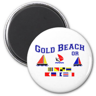 Gold Beach OR Signal Flags Magnet
