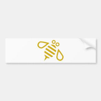 Gold Bee Bumper Sticker