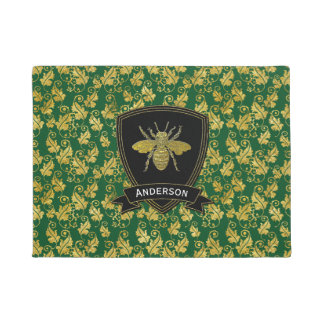 Gold Bee Foliage Your Color Doormat