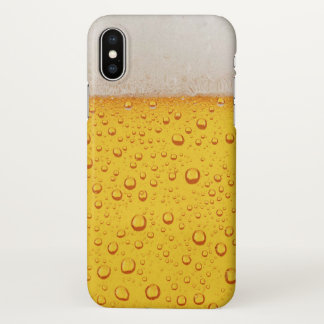 Gold Beer Foam and Bubbles Funny Zazzle iPhone X Case
