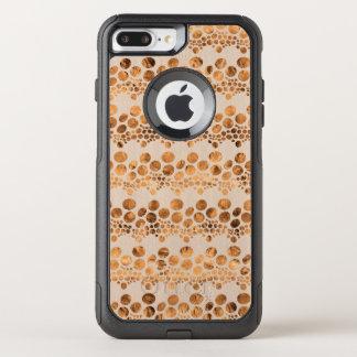 Gold & Beige Complex Stripes Modern Design GR3 OtterBox Commuter iPhone 8 Plus/7 Plus Case