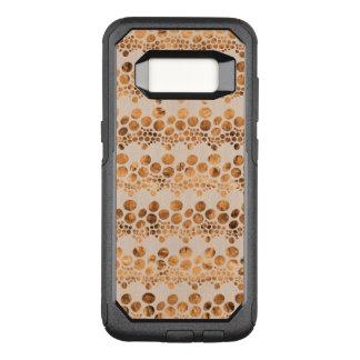 Gold & Beige Complex Stripes Modern Design GR4 OtterBox Commuter Samsung Galaxy S8 Case