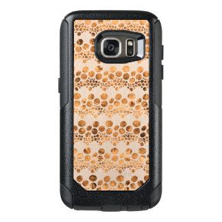 Gold & Beige Complex Stripes Modern Design GR4 OtterBox Samsung Galaxy S7 Case