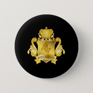 Gold Belarus 2 Inch Round Button