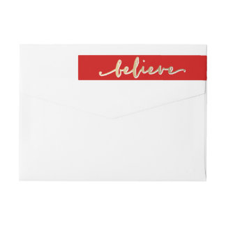 Gold Believe | Holiday Return Address Labels