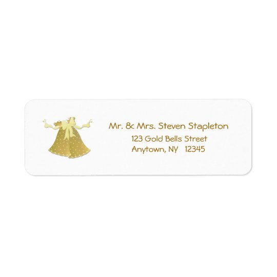 Gold Bells Address Label