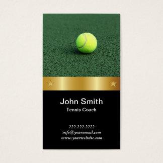 Gold Belt Tennis Coach Business Card