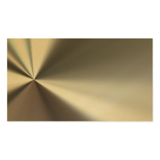 Gold Bent Metal Look Business Cards