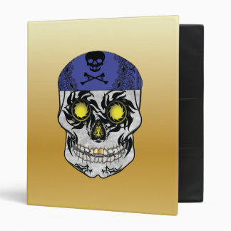 Gold Biker Candy Skull Binder