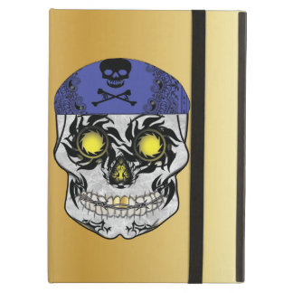 Gold Biker Candy Skull Ipad Air Case