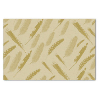 Gold Bird Feathers Tissue Paper
