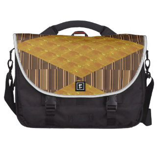 Gold Biscuits Golden Plates Decoration Gifts FUN Laptop Bag