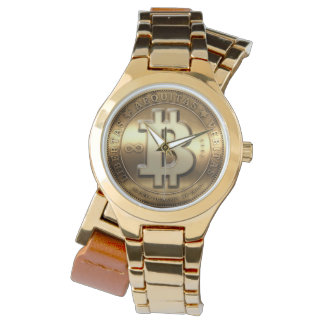 Gold Bitcoin Logo Symbol Cryptocurrency Watch