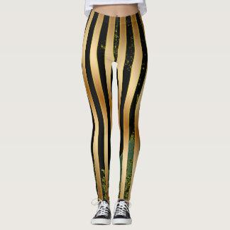 Gold, Black and Green. Leggings