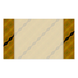 Gold Black and Olive Striped Modern Abstract Business Card