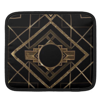 gold, black,art deco, metallic,pattern,vintage,chi sleeves for iPads