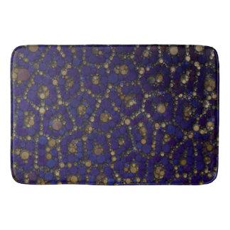 Gold Black Blue Cheetah Abstract Bath Mat