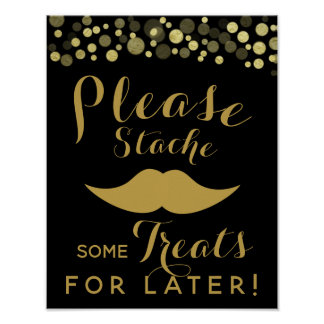 GOLD & BLACK candy bar, sweet bar, PARTY SIGn