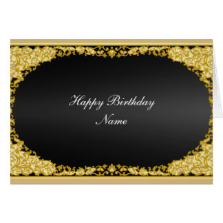 "Gold Black Card ""Happy Birthday"""