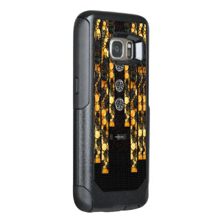 Gold Black Cheetah Bling OtterBox Samsung Galaxy S7 Case
