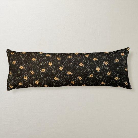 Gold Black Clover Pattern Body Pillow