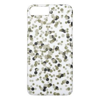 Gold Black Confetti Dots iPhone 7 Plus Case