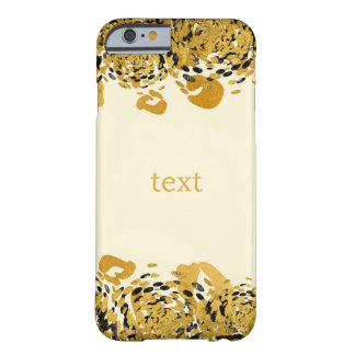 Gold & Black Exotic Jungle Cheetah Glamour Cream Barely There iPhone 6 Case