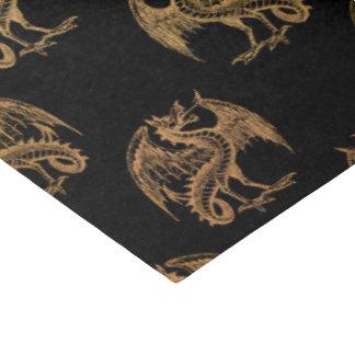 Gold black Fantasy Dragon party tissue paper
