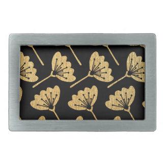 Gold & Black Floral Belt Buckles