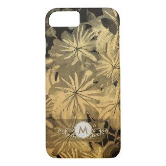 Gold & Black Floral Fancy Monogram Case for Her
