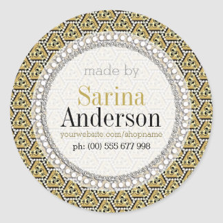 Gold Black Geometric Pattern Made By Labels
