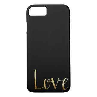 Gold Black Glam Love iPhone 8/7 Case