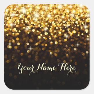 Gold Black Hollywood Glitz Glam Place Sticker
