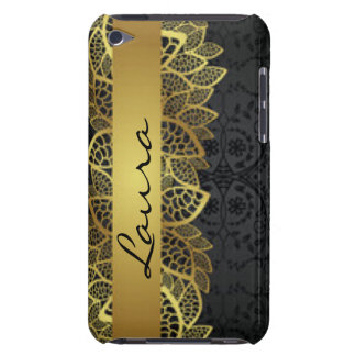 Gold Black Lace Typography Patern Design Case-Mate iPod Touch Case