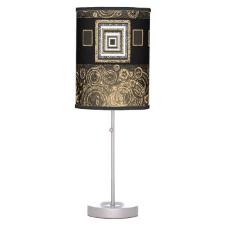 gold black lamp shade