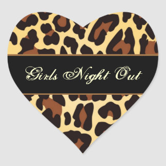 Gold Black Leopard Girls Night Out Party Stickers