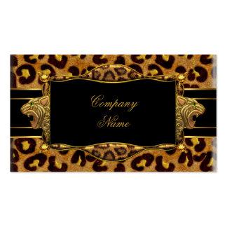 Gold Black Leopard Gold Elegant Boutique 7 Business Card Templates