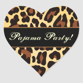 Gold Black Leopard Pajama Party Stickers