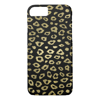 Gold Black Ombre Leopard Print iPhone 7 Case