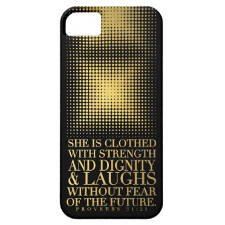 Gold Black Proverbs 31:25 iPhone 5 Cover