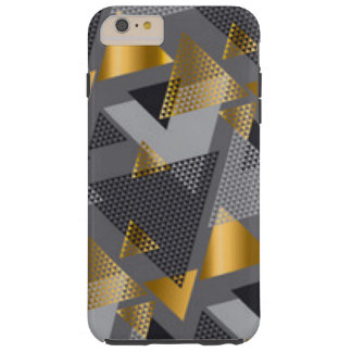 Gold Black Silver Abstract Pattern Design Tough iPhone 6 Plus Case