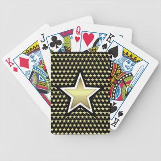 Gold & Black Star Bicycle Playing Cards