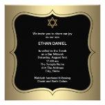 Gold Black Star of David Bar Mitzvah